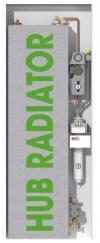 Scaldacqua/scaldabagno a pompa di calore HUB Radiator ACS18