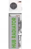 Sistema di riscaldamento e scaldabagno a pompa di calore HUB Radiator Full 24