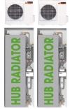 Sistema di climatizzazione e scaldabagno a pompa di calore HUB Radiator Top 18+18